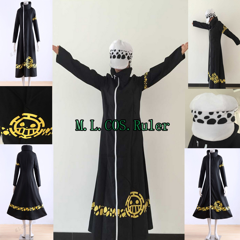 Anime One Piece Trafalgar Law Cosplay Costume Cloak Cape Clothing Gift New 2016