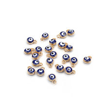 30pcs/lot LUCKY EYE turkey evil eye gold /silver tone charms connectors beads for diy bracelet bangle jewelry accessories(China)