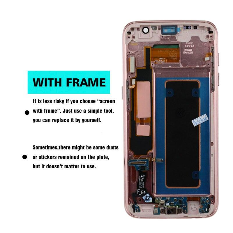 HTB17z5gL9zqK1RjSZPcq6zTepXaV SUPER AMOLED 5.5'' Burn-shadow LCD For Samsung Galaxy S7 Edge Display With Frame G935F G935FD LCD Screen Digitizer Assembly