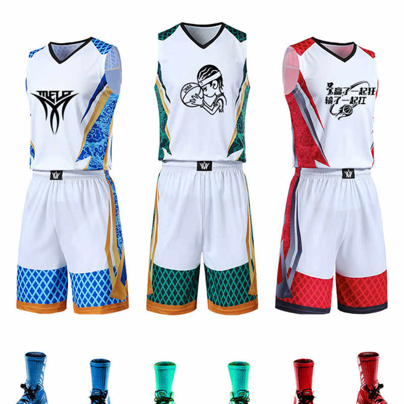 Men Kids Basketball Jerseys Suit Boys College Mens Basketball Uniforms Sport Kit Shirts Shorts Set Cloth Breathable Custom Print