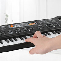61 Keys Electronic Music Keyboard Electric Organ with Microphone Children Early Educational Tool BB55