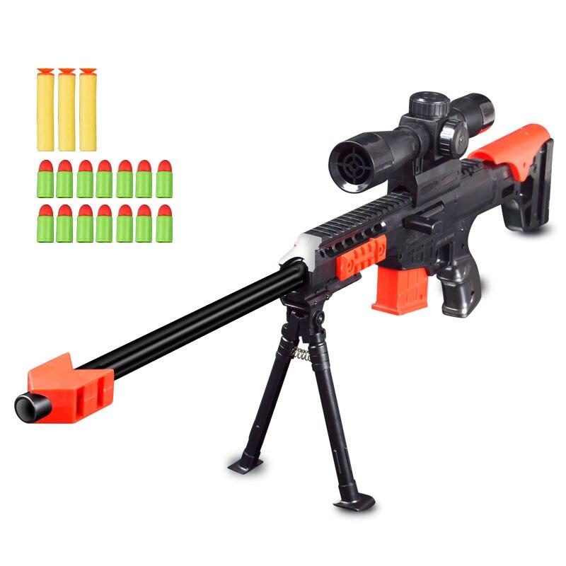 Pistola de bala suave Rifle de francotirador pistolas de aire Airsoft modelo de juguetes militares de plástico para regalos niños juguete de juego al aire libre