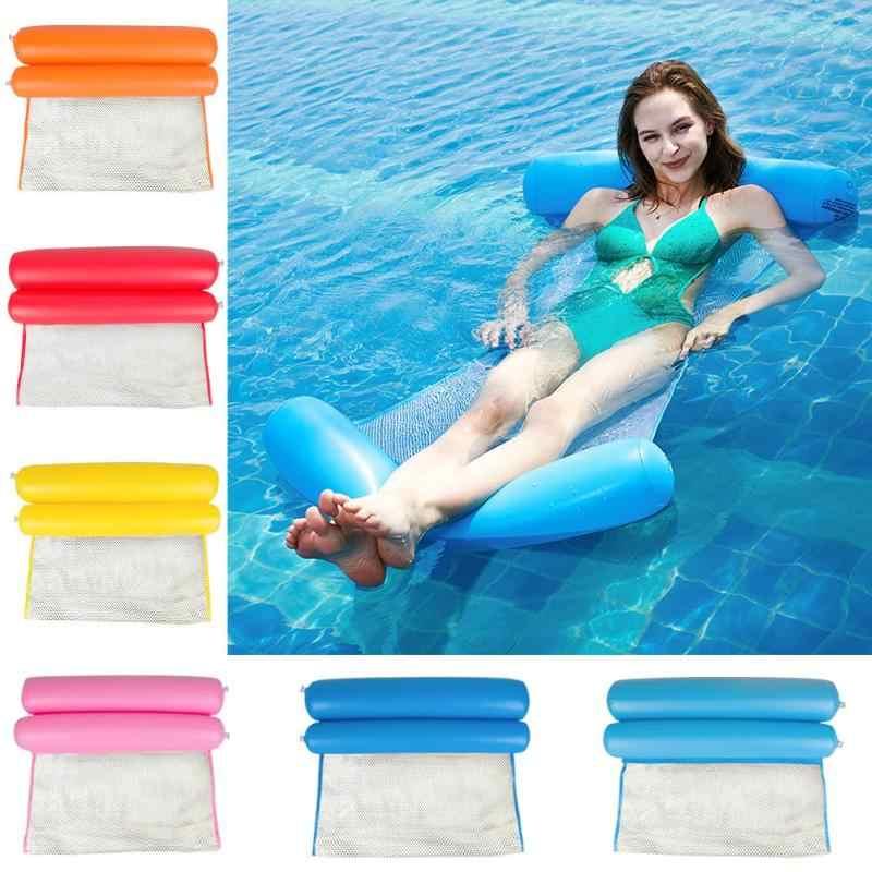 Hamak do wody w materac dmuchany basen krzesło plażowe pływająca poduszka do spania składany nadmuchiwany materac łóżko krzesło