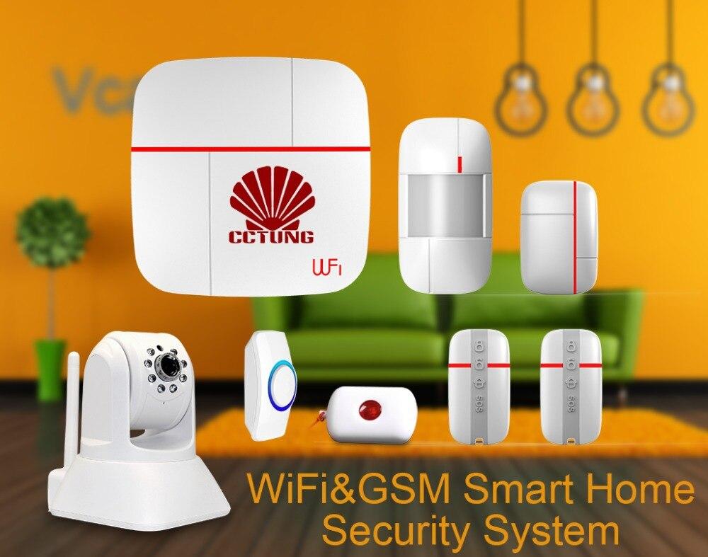 wifi gsm multi fonction smart home syst me d 39 alarme avec motion. Black Bedroom Furniture Sets. Home Design Ideas