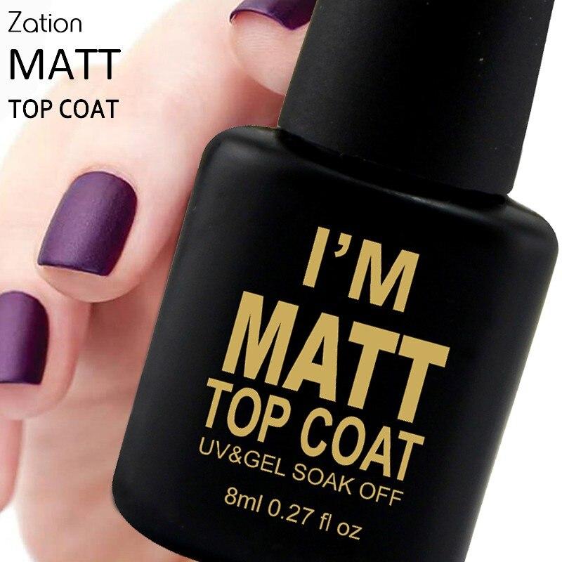 Zation Varnish Matt Matte Top Base Coat Frosted Nail Gel Nail Art ...