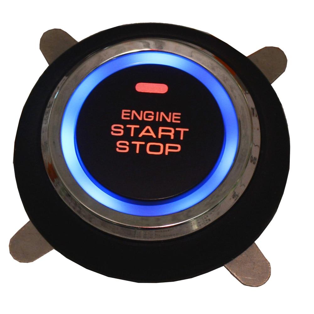 Système de sécurité de voiture intelligent verrouillage automatique sans clé passif ou déverrouillage de la porte de voiture bouton poussoir démarrage arrêt smart ani alarme de détournement - 3