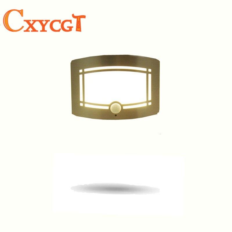 Wireless Infrared Motion Sensor Wall LED Night Light Novelty Battery Powered Porch Night Lamp Motion Sensor