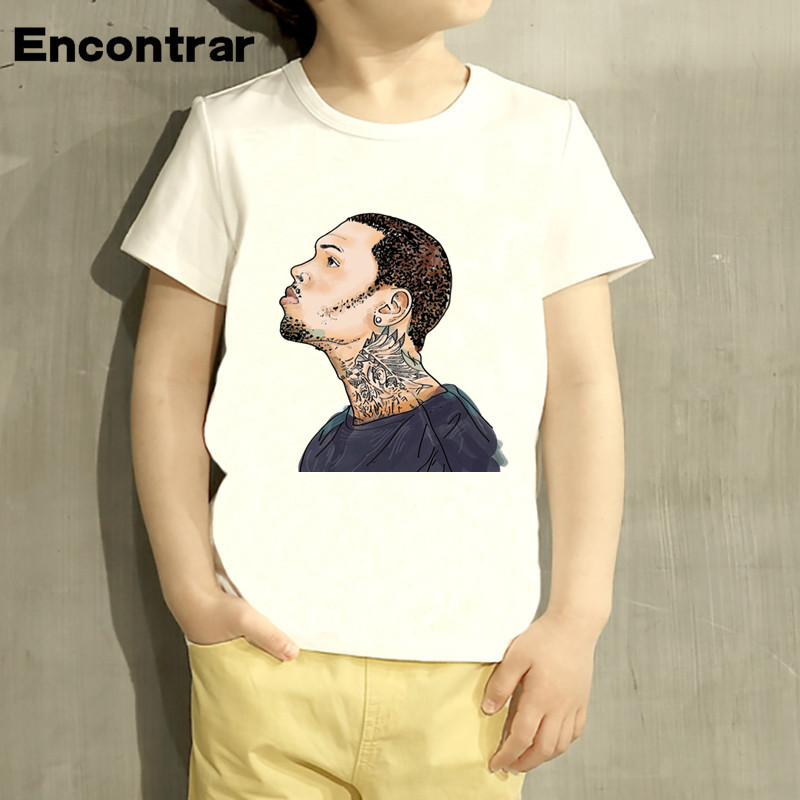 Kids Chris Brown Design Baby Boys/Girl TShirt Kids Funny Short Sleeve Tops Children Cute T-Shirt,HKP770