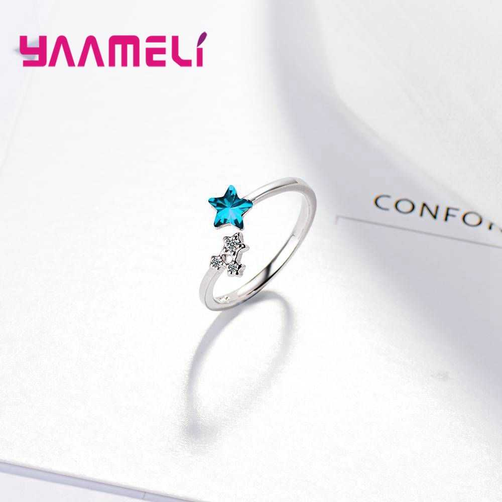 Новое поступление блестящие AAA циркон Cut 925 серебряные обручальные кольца для женщин Свадебные украшения изящное женское кольцо на палец