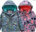 Ao ar livre jaqueta à prova de vento e à prova d' água meninos e meninas das crianças de comércio exterior do único original de esqui jaqueta acolchoada