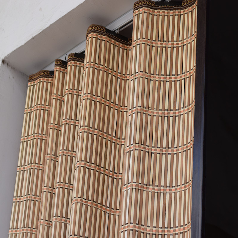 Cheap custom bamboo bamboo curtain shutter sliding door bamboo folding bamboo curtain curtain sliding door sliding partition-in Blinds Shades u0026 Shutters ... & Cheap custom bamboo bamboo curtain shutter sliding door bamboo ...
