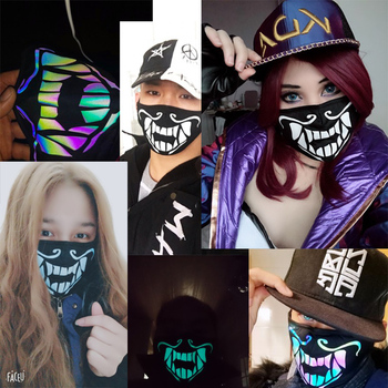 Game KDA K/DA Akali Mask Assassin S8 Face Luminous Mask