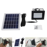 Newest 1 Set Solar Powered Floodlight Spotlight Outdoor Waterproof Security Light 54 LED 400lm Garden Lawn Pool