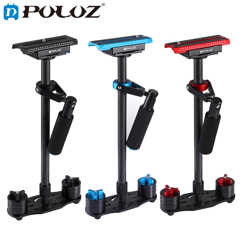 PULUZ Adjustable S60T for steadycam Scalable Carbon Fiber Handheld Camera Stabilizer for Steadicam for Canon Nikon DSLR Cameras puluz mini handheld stabilizer carbon fiber steadicam for dslr video camera portable light steady cam better than s40 s60t