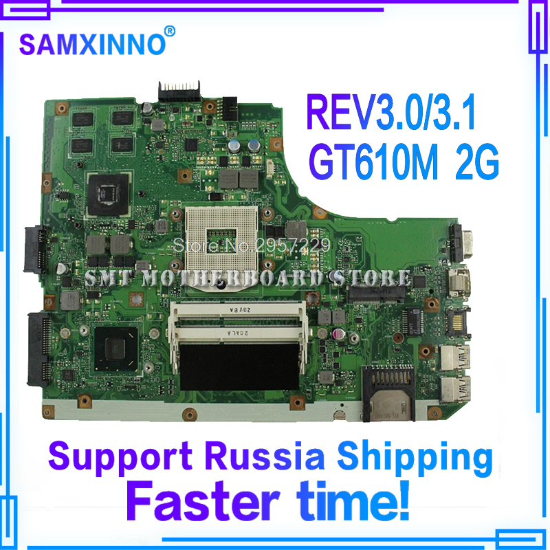 K55VD Motherboard REV3.0/3.1 GT610M 2GB RAM For ASUS A55V R500V laptop Motherboard K55VD Mainboard K55VD Motherboard test OK k55a motherboard rev 3 0 3 1 hm76 for asus a55v k55v k55vd laptop motherboard k55a mainboard k55a motherboard test 100% ok