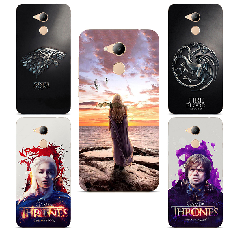 GOT Game Of Throne House Stark Soft silicone Painting Case For Huawei Honor V9 Play / Honor 6C Pro (5.2) Printed Case