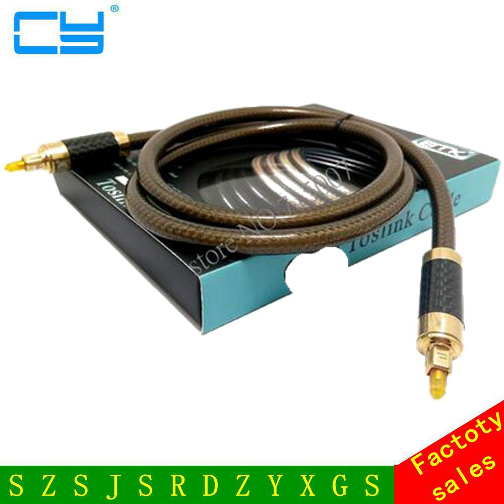 EMK Noble quality Digital Optical Audio Cable Fiber Optic Cable OD8.0mm Toslink Male to Toslink Male Audio Fiber Cable 1M-3M 4 0mm digital fiber optical optic audio toslink cable spdif md dvd gold plated 1m 1 5m 2m 3m 5m 8m 10m 15m 20m 25m for choose