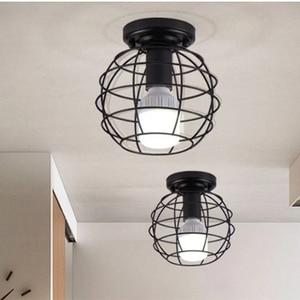 Image 5 - โมเดิร์น wrought iron E27 โคมไฟเพดาน led เพดานสีดำสำหรับห้องครัวห้องนั่งเล่นห้องนอนศึกษาทางเดินร้านอาหาร cafe hotel