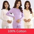 2016 Women Pregnant Lactation Nursing Clothes Maternity set Letters Print Autumn Cotton Sleepwear Feeding Clothes