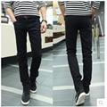 New Arrival 2016 Brand Spring Fashion Men's Slim Denim Pants Men Black Solid Pants Casual Jeans Jogger Trousers 13M0471