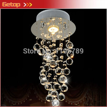 LED Crystal Chandelier Bedroom Corridor Crystal Chandelier Hallway Entrance Bar Balcony D200*H550mm Light Fixtures Aluminum