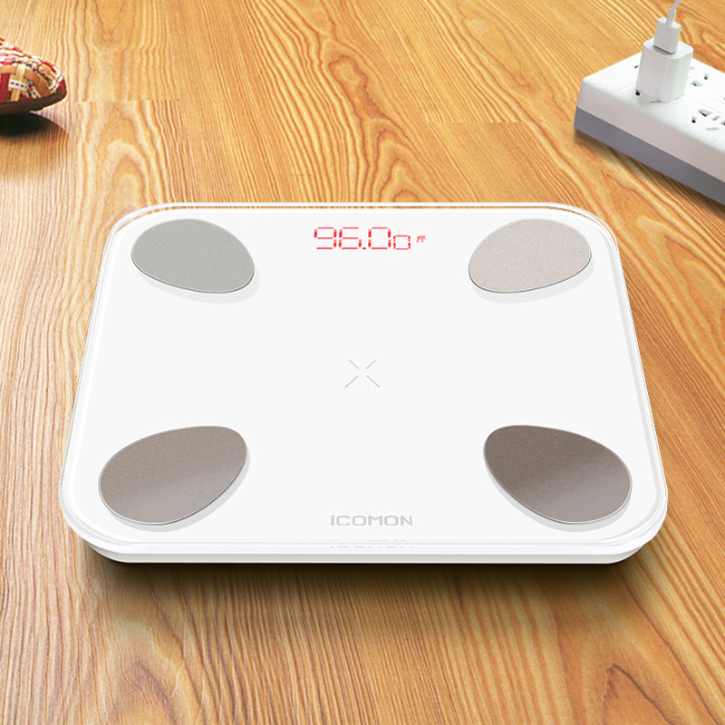 Image 5 - iCOMON USB 25 body data smart bathroom scales floor human weighing mi scale body fat bmi weight scale bluetooth balance 180kg-in Bathroom Scales from Home & Garden
