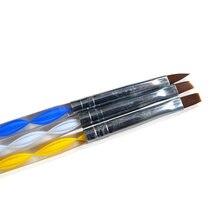 Ensemble de pinceaux à ongles avec tête souple en acrylique, Nail Art, pointe de peinture, stylo à dessin, 3 pièces/ensemble, TR32