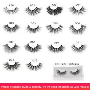Image 3 - Visofree 25 pairs/lot Mink Eyelashes Full Volume Stunning 3D Mink Lashes Handmade Full Strip Lashes maquillage makeup Eye lashes