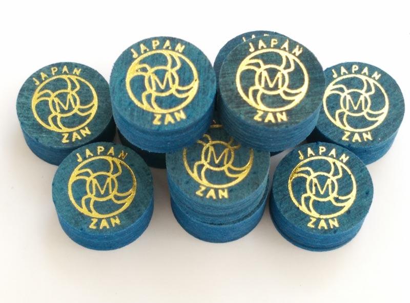 Prix pour Livraison gratuite 10 pcs/lot ZAN 14 MM bleu professionnel en cuir de billard cue tip S/M/H 8 couches piscine de billard en cuir fournitures