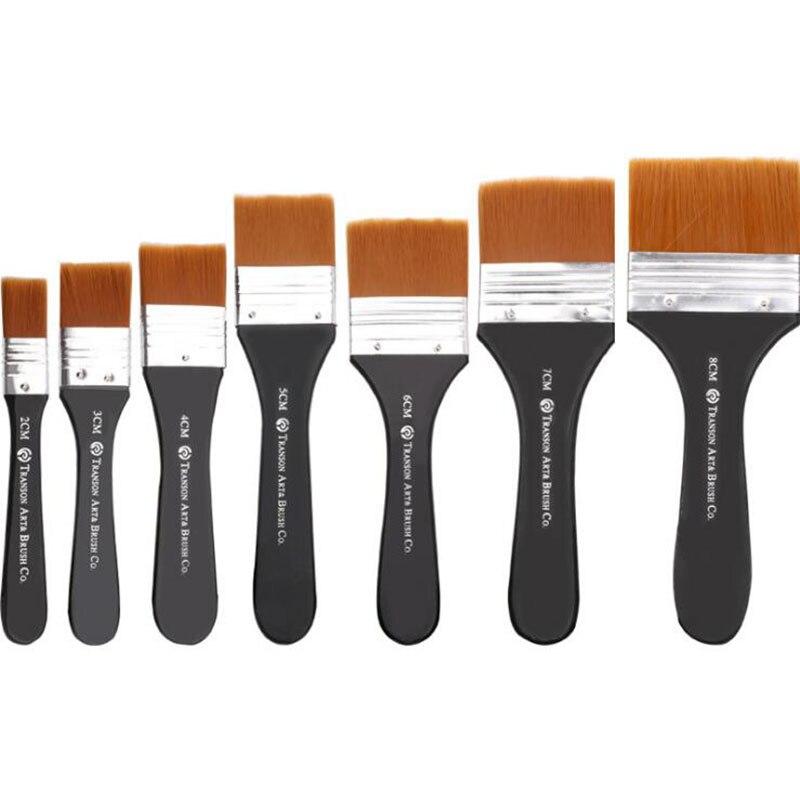 Nylon Wool Paint Watercolor Paint Brush Acrylic Paint Pigment Mark Brush Painting Graffiti Art Tool Supplies (2#3#/4#/5#6#7#8#)