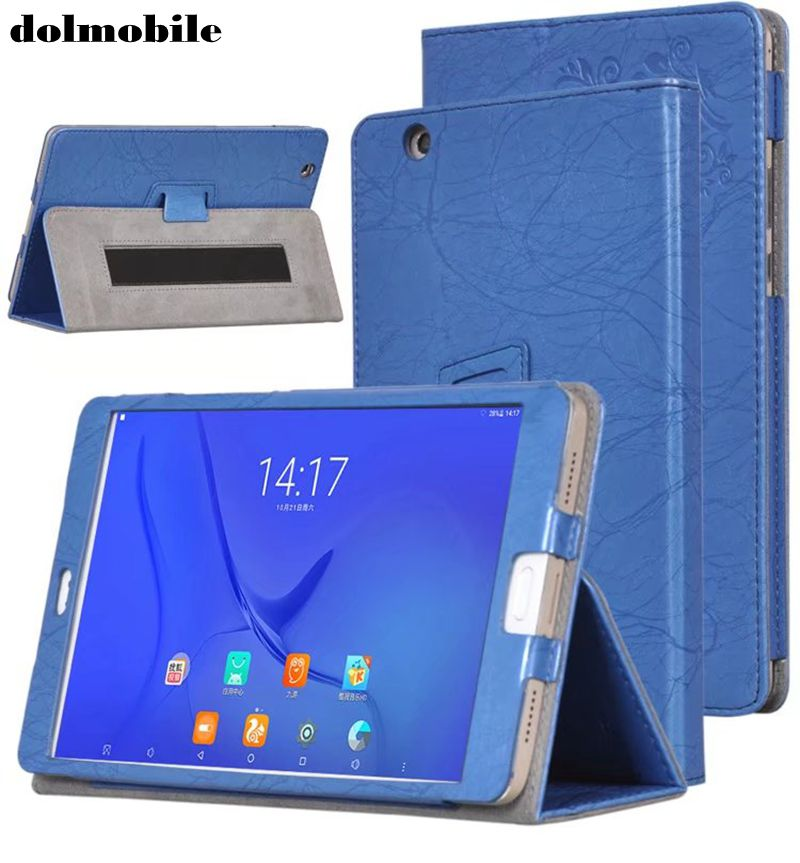 Dolmobile Print Flower PU Leather Case Cover For Teclast T8 8.4 Inch Tablet With Hand Holder Grip Shell + Stylus Pen