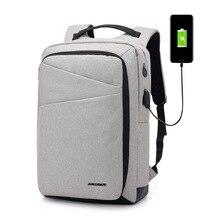 Купить с кэшбэком USB Charge Anti Theft Men Backpacks Laptop Backpack Large Capacity Casual School Bag Waterproof Travel Bags Rucksack