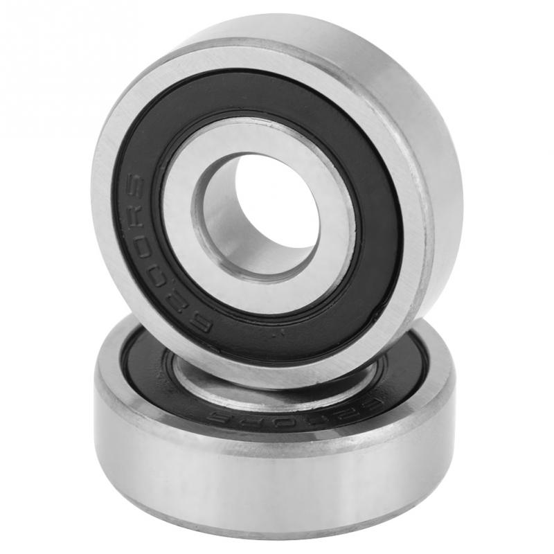 6200-2RS Rubber Sealed Ball Bearing Deep Groove Lubricated 6200RS 10X30X9