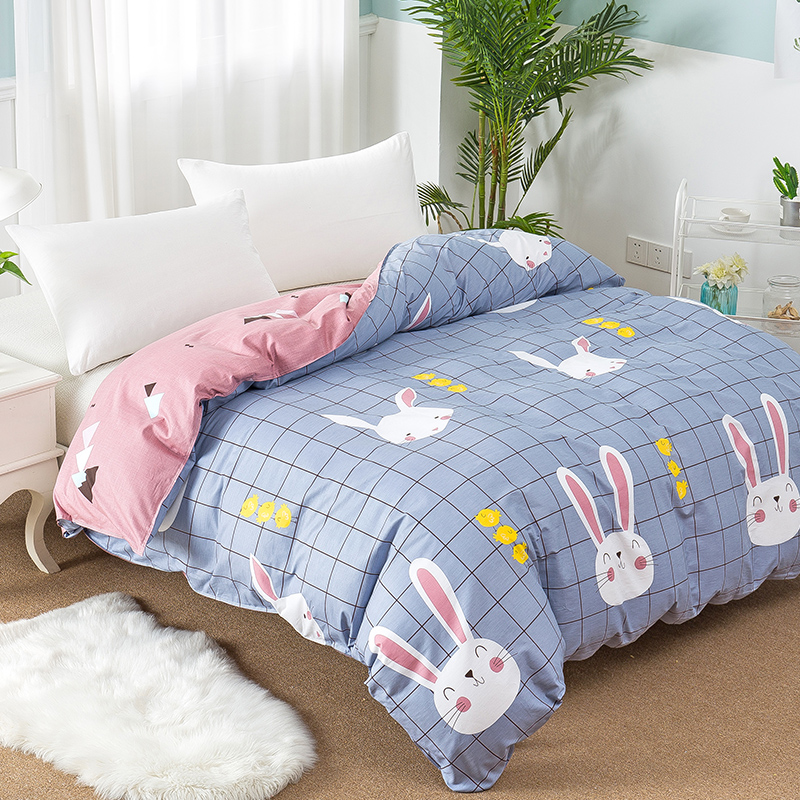 Cartoon 100% Cotton Duvet Cover Twin Queen King Size Bed Quilt Cover for Kids Soft Comforter Cover 1Pc Single Double Bed Linen
