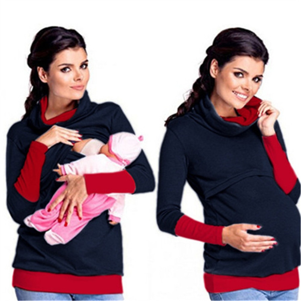warm coats clothes  breast feeding maternity pregnant autumn mother tops women mommy nursing hoodies jumper pullover