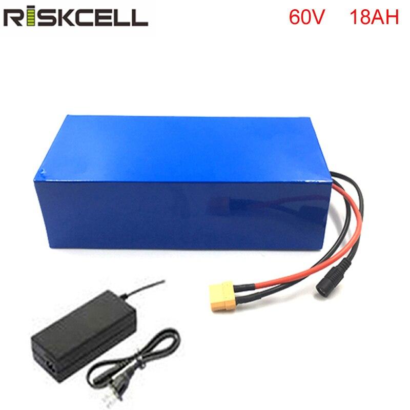 Usine Personnaliser 60 v 18Ah Scooter Électrique Li ion Batterie 60 v 1800 w Citycoco Batterie Au Lithium avec Chargeur BMS PVC Pack