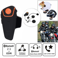 bluetooth earphone IPX7 Waterproof 1000M Headset Motorcycle Intercom bluetooth helmet Earphone