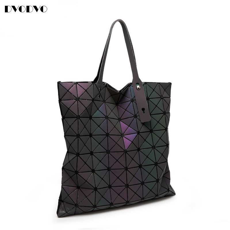 DVODVO 2017 Luminous Women bao bao Bag High-end Geometric Handbags Plaid Shoulder Diamond Lattice baobao Ladies Messenger Bags rainbow magic rubik s cube tote diamond geometric bao bao high capacity handbag bags women colorful plaid mosaic shoulder bag