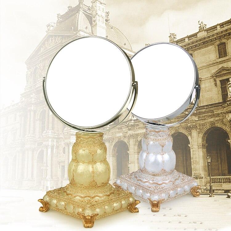 Mini miroir, double face, top bureau, miroir, portable bureau bureau miroir grossissant