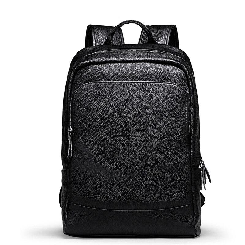 Luxus Marke männer Rucksack Hohe Qualität 100% Echtem Leder Rucksack Männlichen Reale Natürliche Leder Mode Reise Computer Tasche-in Rucksäcke aus Gepäck & Taschen bei  Gruppe 1