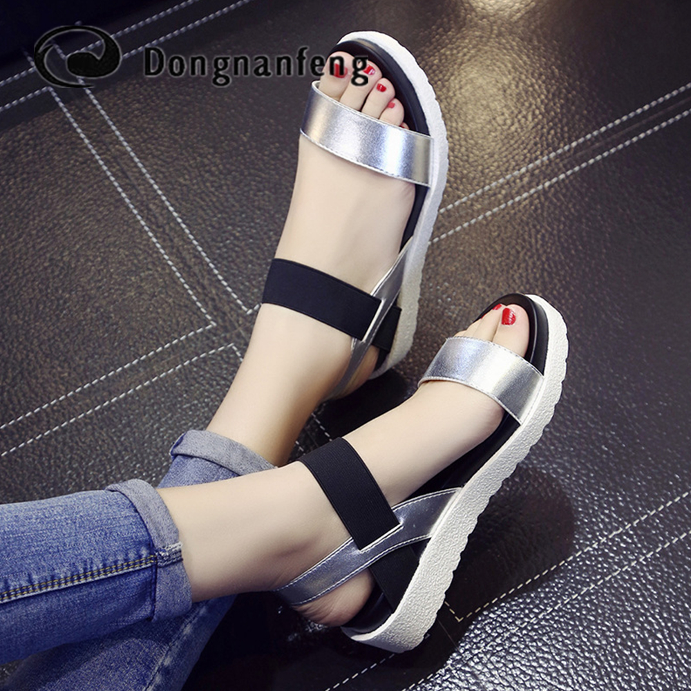 цены  Women Beach Sandals Summer Casual Flat Shoes Peep-toe Roman Sandals Lady Flip Flops Footwear Gladiator Sandalias Mujer XY-669810