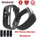 M2 relógio de pulso pulso medidor de pressão arterial monitor cardiaco banda inteligente rastreador de fitness smartband call/sms ios android pulseira mi