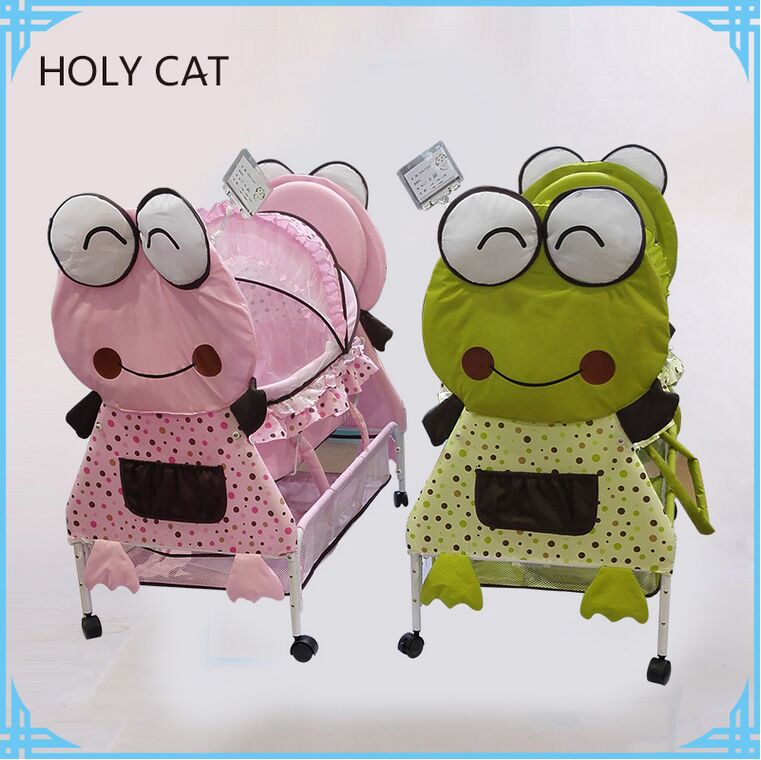 Comfortable iron baby bed, cute character baby crib DC-186