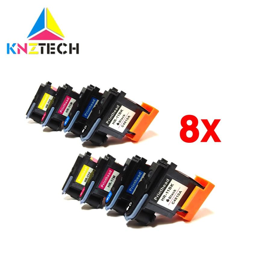 8x Compatible For Hp11 Printhead C4810A C4811A C4812A C4813A For 11 Designjet 70 100 110 111 120 500 510 1100 Printhead Printer