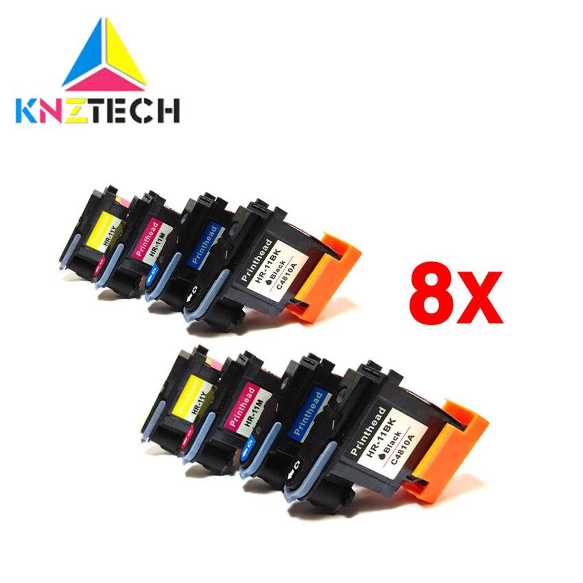 8x compatível para cabeça de impressão hp11 C4810A C4811A C4812A 70 C4813A para Designjet 100 110 111 120 500 510 1100 Cabeça De Impressão impressora