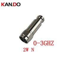 2 W DC 3Ghz atenuador RF N macho a N Hembra DC 3Ghz 1 30DB opción atenuación de conector COAXIAL jack 2 W poder atenuador