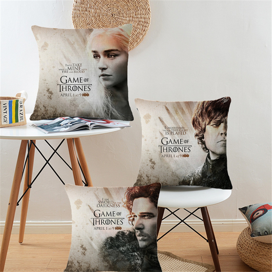 game of thrones office chair amazon massage nordic europe movie cushion cover home decor sofa decorative throw pillow case cotton linen new d24 in from