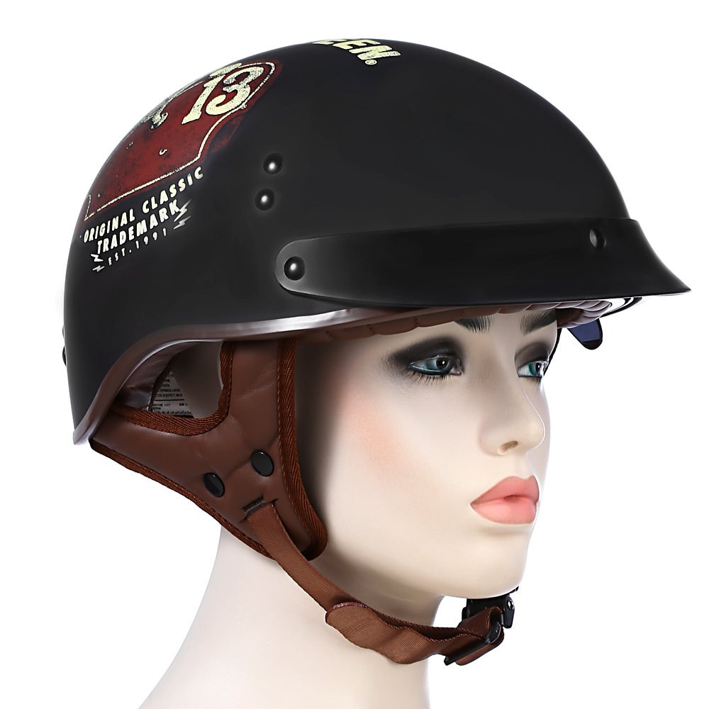 TORC <font><b>T</b></font> - <font><b>55</b></font> Motorcycle Helmet Open Face Cold Protection Cafe Racer Headpiece image