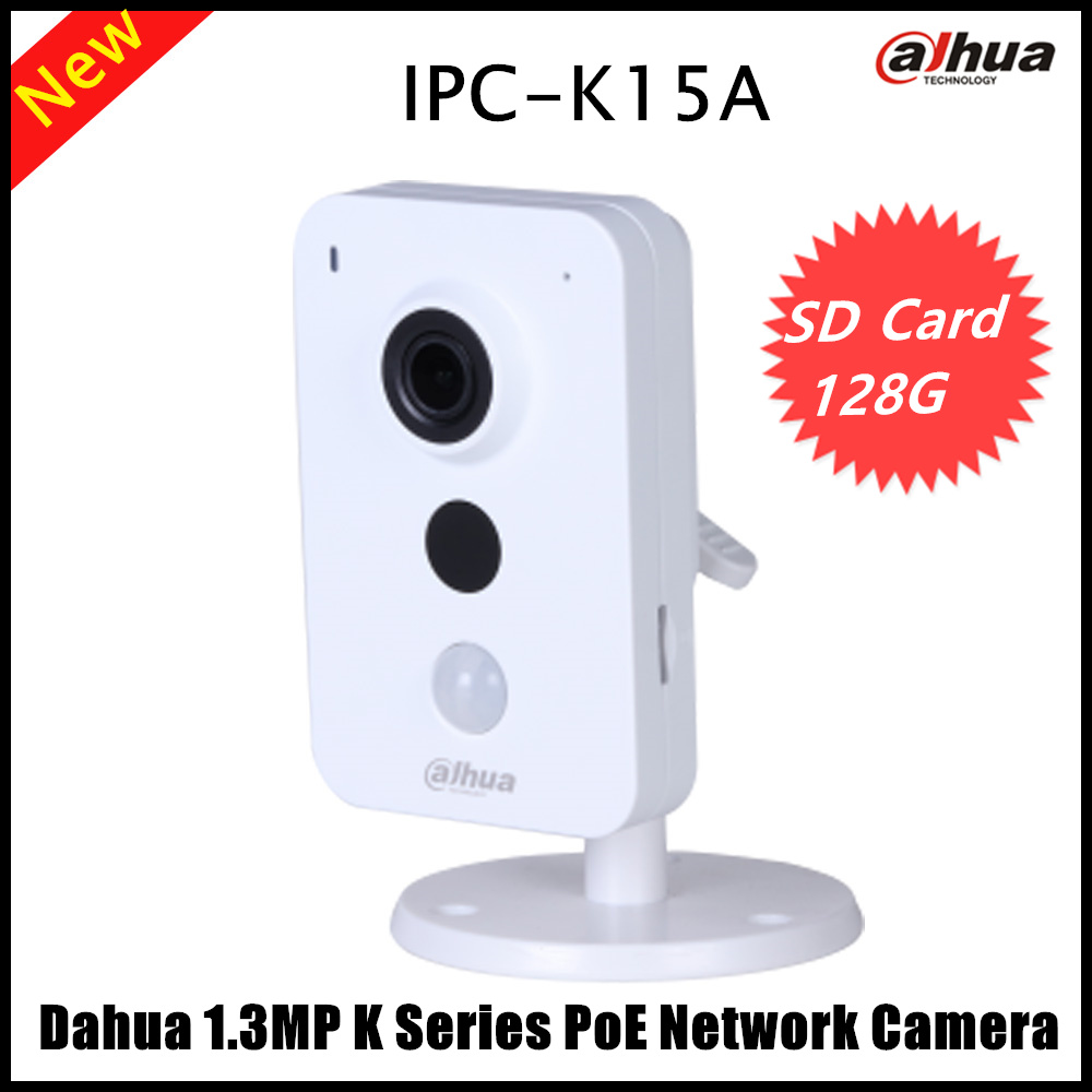 NewArrival Dahua English Version 1.3MP K Series PoE Network Camera Support Easy4ip and SD card upto 128GB POE IP Camera IPC-K15A