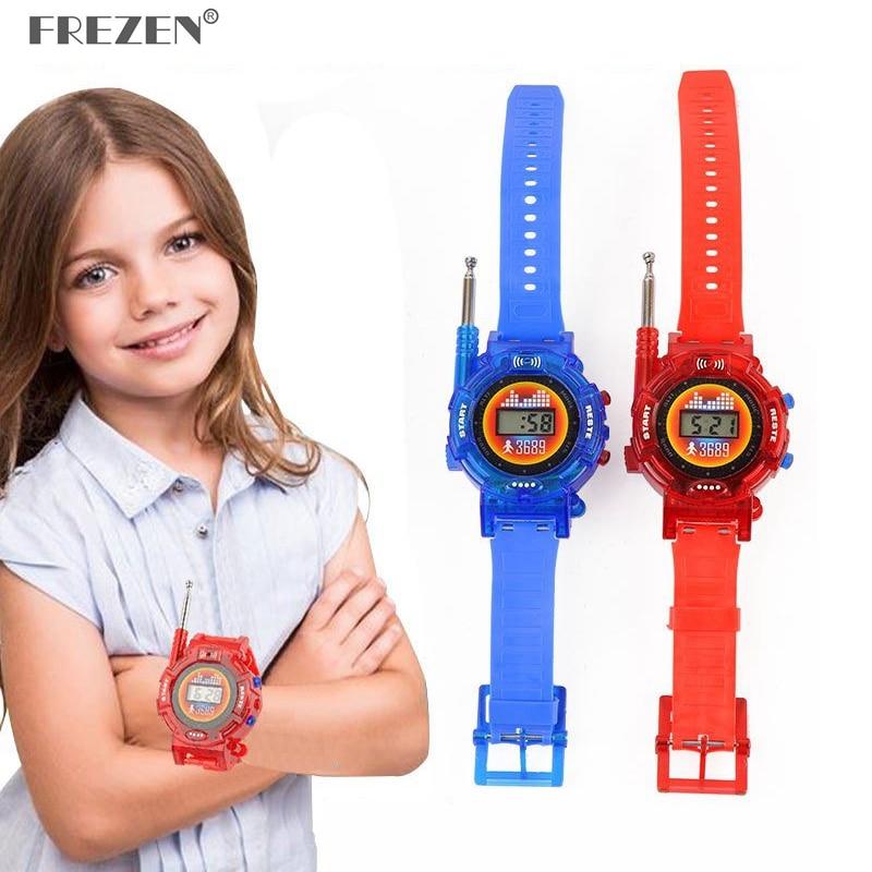 1 Pair  Watches Walkie Talkie  Children Watch Radio Outdoor Interphone Toy  Puzzle Games